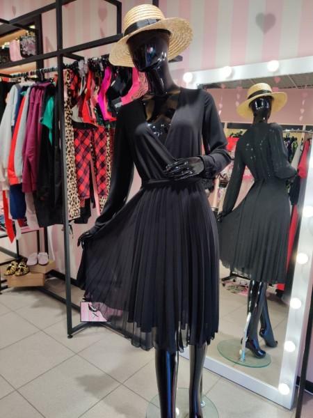 Cuteberry черное платье шифон