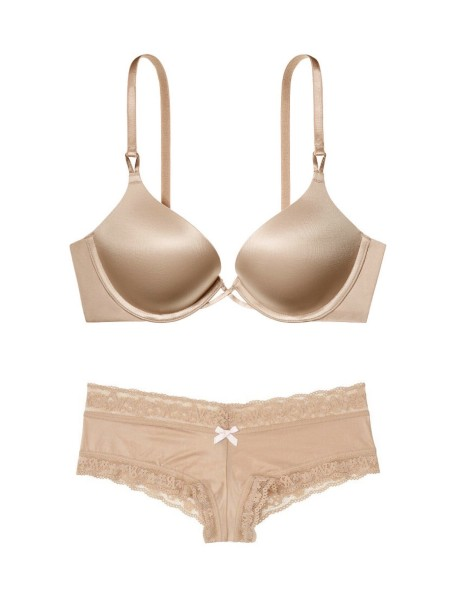 Комплект белья Victoria's Secret Very Sexy Bombshell Add-2-cups Beige Bra set