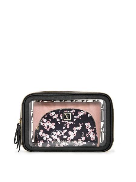 3 в 1 косметичка Victoria's Secret Beauty Bag Trio Midnight Rose