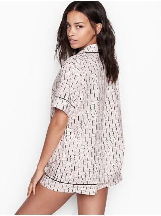 Пижама Victoria's Secret Cotton Short PJ Set LOVE print