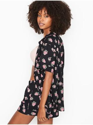 Пижама Victoria's Secret Cotton Short PJ Set Floral print