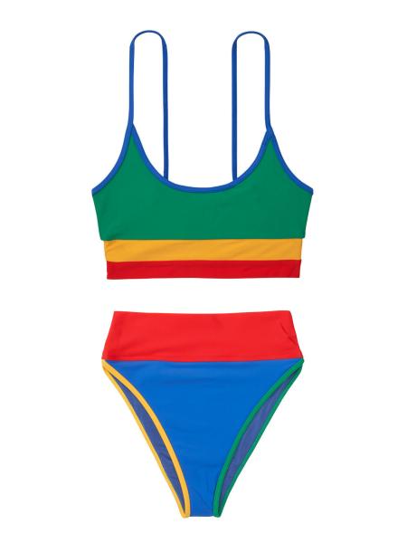 Купальник BEACH RIOT Retro Rainbow