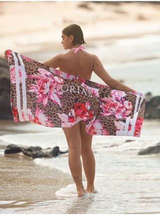 Полотенце для пляжа Victoria's Secret Leopard Peony