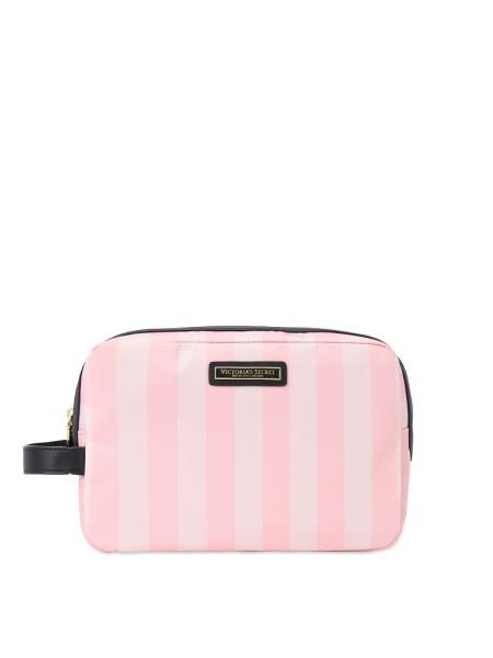 Средняя косметичка Victoria's Secret Beauty Glam bag Signature stripe