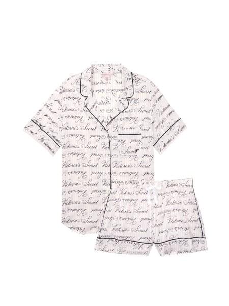 Пижама Victoria's Secret Cotton Short PJ Set logo VS