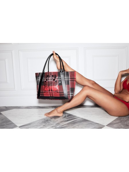 Пляжная сумка Victoria's Secret Red plaid tote