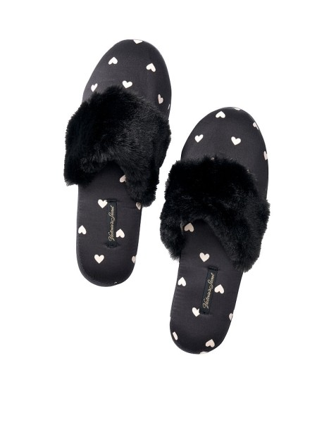 Домашние тапочки Victoria's Secret Slippers Hearts print