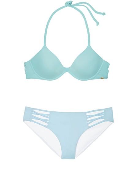 Купальник Victoria's Secret PINK Top & Bikini Strappy panty Sky Blue