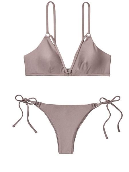 Купальник Victoria's Secret PINK Strappy Top & Brazilian panty Platinum
