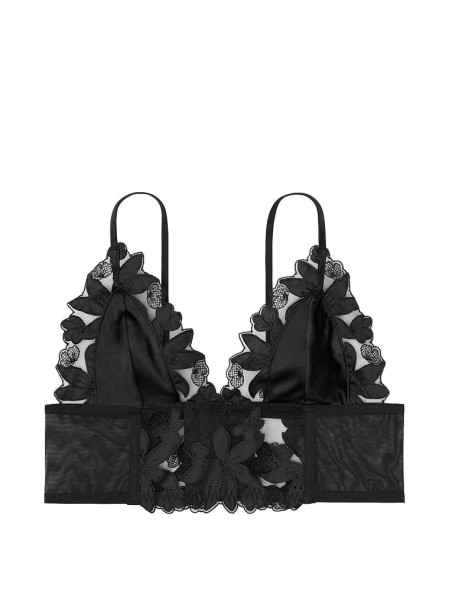 Бюстье Victoria's Secret Unlined Floral Embroidered Long Line Bralette