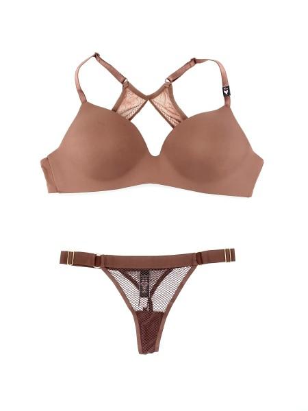 Комплект Victoria's Secret T-SHIRT Lightly Lined Wireless Bra 36D & Thong panty
