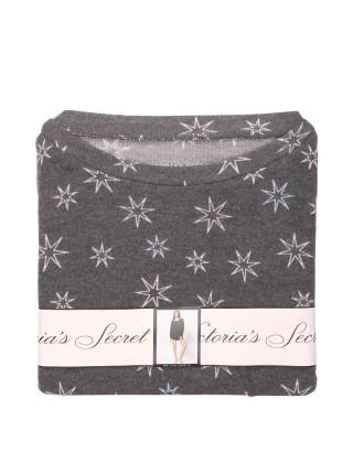 Пижама Victoria's Secret Cozy Short PJ Set stars print