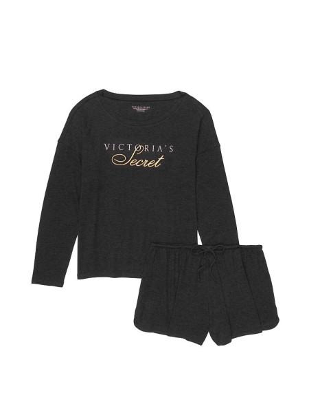 Пижама Victoria's Secret Cozy KnitShort PJ Set print logo VS