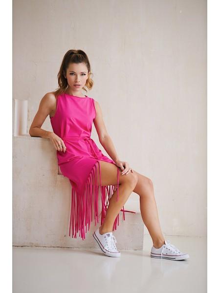 Платье с бахромой Twishi розового цвета
