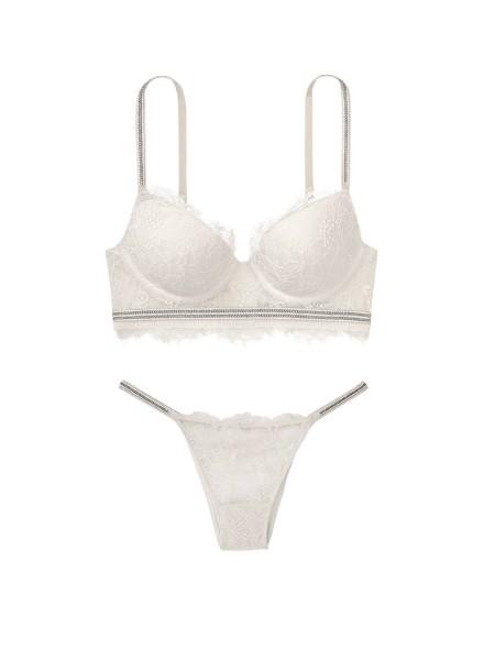 Комплект белья Victoria's Secret Very Sexy Crystal strap Silver Lace bra