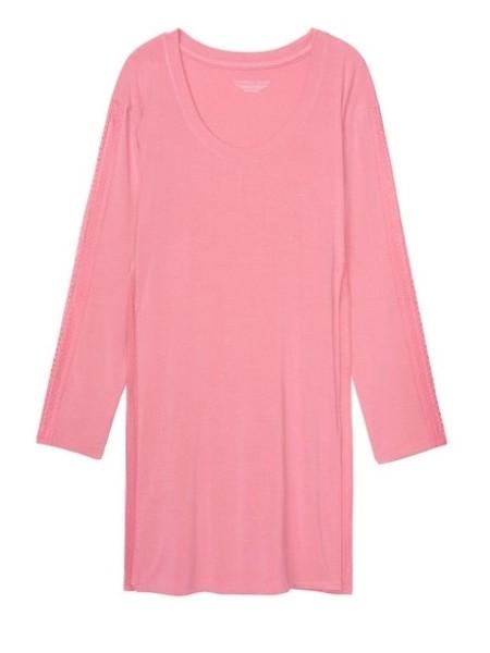 Ночная рубашка с кружевом Victoria's Secret Modal Lace Rose Luster