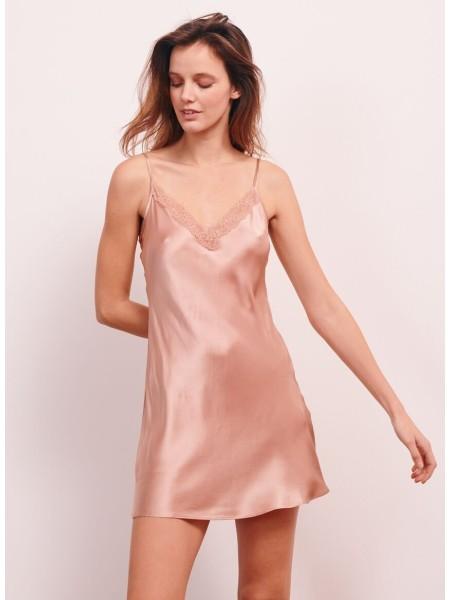 Пеньюар Victoria's Secret Satin Slip Dress Beige