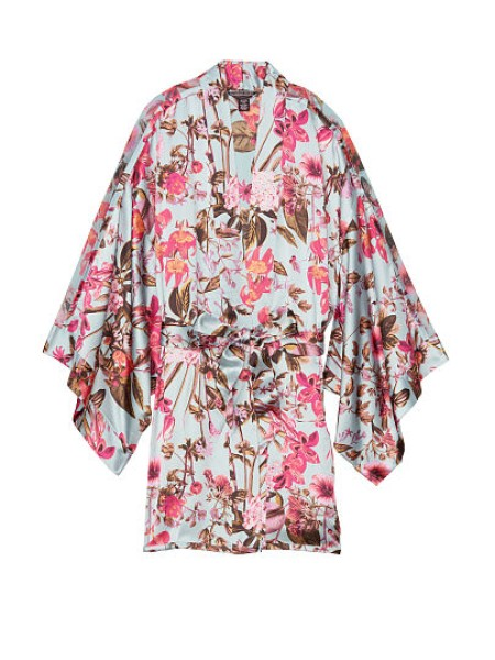 Сатиновый халат Victoria's Secret Very Sexy Satin Kimono Floral print