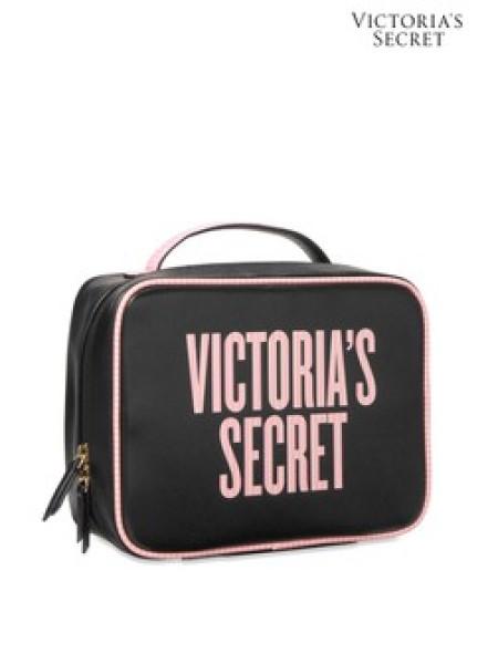 Средняя косметичка Victoria's Secret Beauty Glam bag Logo VS Signature stripe