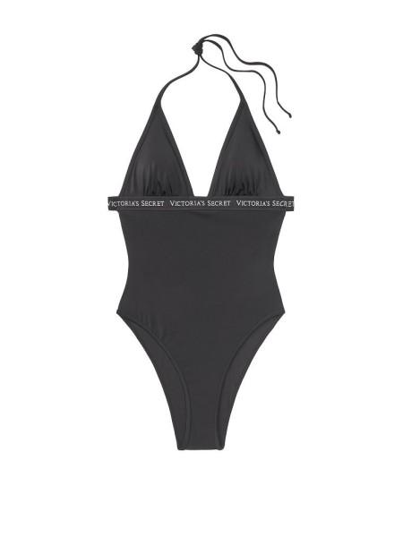 Купальник монокини VS Sydney Logo Plunge One-Piece Black swim