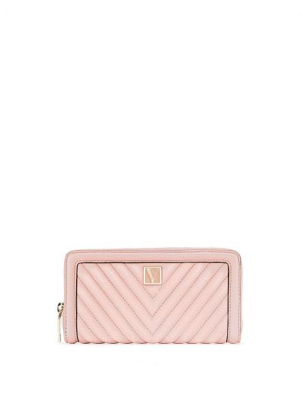 Кошелек Victoria's Secret The Victoria Wallet V-Quilt pink
