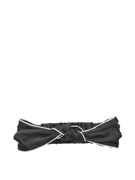 Повязка для волос VS Black Satin Knotted Headband