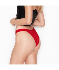 Трусики Victoria's Secret Lipstick in Lace Brazilian Panty