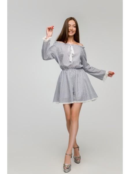 Летнее платье-комбинезон Zephyros в полоску
