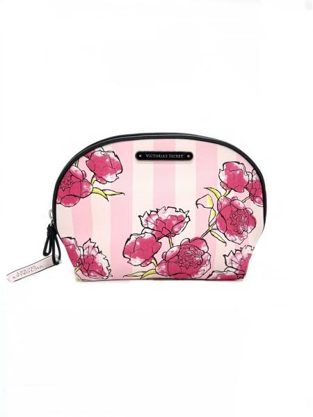 Средняя косметичка Victoria's Secret Pink Stripes Flower print