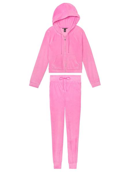 Велюровый спортивный костюм Виктория Сикрет logo VS So pinky