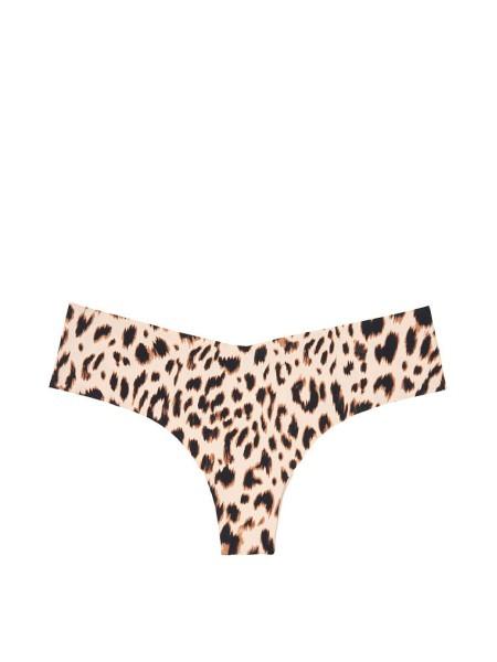 Трусики бесшовные VS No Show Thong Panty Leopard print
