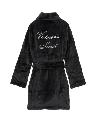 Black Logo Short Cozy Robe - халат Виктория Сикрет