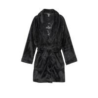 Black Logo Short Cozy Robe - халат Виктория Сикрет