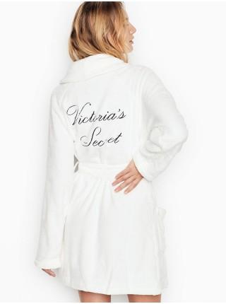 Logo Short Cozy Robe Ivory - халат Виктория Сикрет