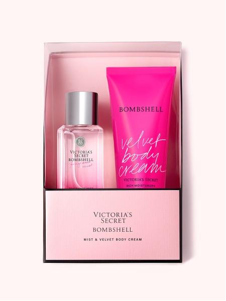 Подарочный наборVictoria's Secret Bombshell Mini Mist & Lotion Gift Set