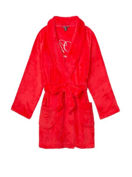 Халат Victoria's Secret Logo Short Cozy Robe Bright Cherry