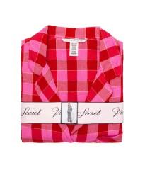Пижама Victoria's Secret ShimmerFlannelLong PJ Set Red/Pink Plaid