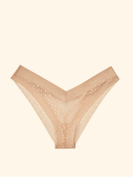 Трусики Incredible By Victoria's Secret Smooth Nude Lace Brazilian panty