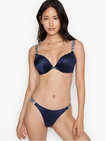 Комплект белья Victoria's Secret Very Sexy Bombshell Add-2-cups Push-up Bra set Noir Navy