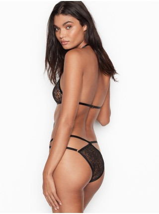 Кружевное боди Victoria's Secret Very Sexy Strappy Black Lace