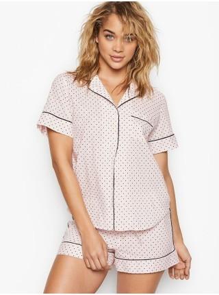 Пижама Victoria's Secret Cotton Short PJ SetPink Mini Dot