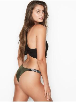 Трусики Victoria's Secret Very Sexy Rhinestone Shine Strap Brazilian Panty Forest Night