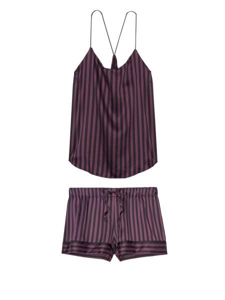 Пижама Victoria's Secret Cami PJ Set Dark Stripes