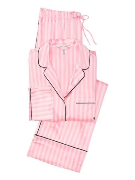 Розовая пижама Виктория Сикрет Angel Pink Stripe