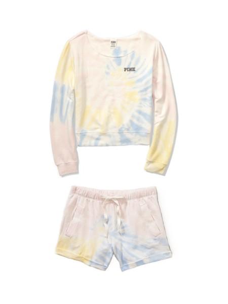 Спортивный костюм Victoria's Secret SPORTShort Fleece set Rainbow