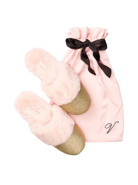 Домашние тапочки c мехом Victoria's Secret Slippers