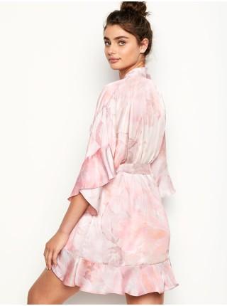 Сатиновый халат Flounce Satin Robe
