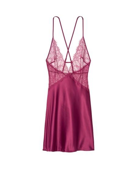 Пеньюар Victoria's Secret Very Sexy Lace Plunge Slip  Magenta Rose