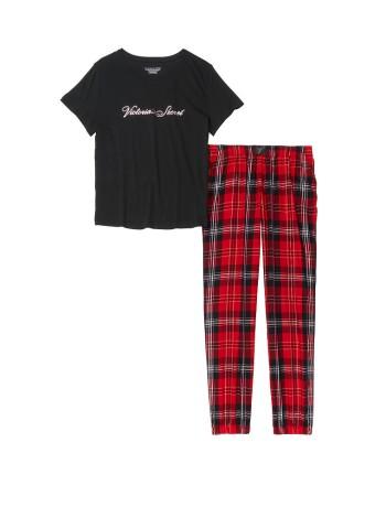 Пижама фланелевая Виктория Сикрет в красную клетку