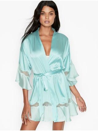 Халат Victoria's Secret Flounce Robe Opal Blue
